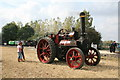 SK2406 : Statfold Barn Railway - traction engine and goods train by Chris Allen