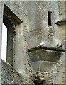 SP3211 : Minster Lovell - Oriel window turret base (SW Tower) by Rob Farrow
