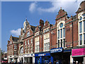 SZ1191 : Boscombe - Post Office, Royal Arcade entrance and Opera House - from E by Dave Bevis