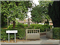 SP0366 : Gates for access to St Luke's Cottages, Rectory Road, Headless Cross, Redditch by Robin Stott