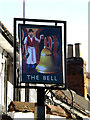 TL7745 : The Bell Public House sign by Adrian Cable