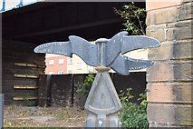 NS5566 : Millennium milepost MP153 on Clyde Walkway by Keith Edkins