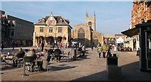 TL1998 : Cathedral Square, Peterborough by Michael Behrend