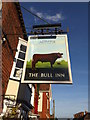 TL8046 : The Bull Inn Public House sign by Adrian Cable