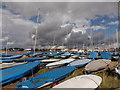 SZ1891 : Mudeford: lots of yachts by Chris Downer