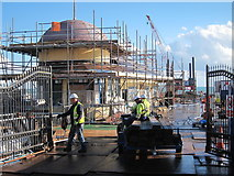 TQ8109 : Hastings Pier restoration works by Oast House Archive