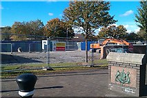 J3674 : Building work on new public space Connswater Greenway by John Thompson