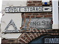 SJ4066 : The Pied Bull in Northgate Street - cycling signs 2014 by John S Turner