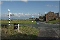 NY0846 : Crossroads at Mawbray by Stephen McKay