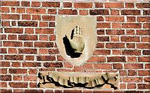 J3372 : The Red Hand of Ulster, Queen's University, Belfast (October 2014) by Albert Bridge