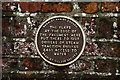 TQ0044 : Plaque in Bramley, Surrey by Peter Trimming