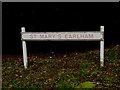 TG1908 : St.Mary's Earlham sign by Adrian Cable