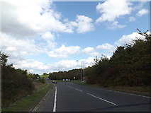 TG2103 : A47 slip road by Adrian Cable