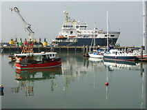 TM2532 : Harwich - boats by Chris Allen