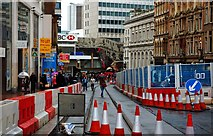 SP0786 : New tram track (2), Corporation Street, Birmingham by P L Chadwick