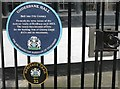 SJ8990 : Underbank Hall Blue Plaque by Gerald England