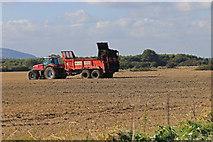TA1181 : Farmer spreading muck by Pauline E