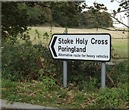 TG2202 : Roadsign on Stoke Road by Adrian Cable