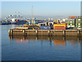 O1934 : Containers on the quayside, Dublin Port by Oliver Dixon