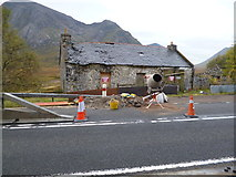 NN2256 : Derelict building at Altnafeadh undergoing repair by Dave Kelly