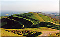 SO7640 : Malvern Hills: south view from British Camp (Herefordshire Beacon) by Ben Brooksbank