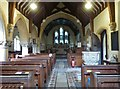 ST8207 : The Nave and Chancel, St Mary's church, Turnworth, Dorset by Derek Voller