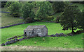 SD9574 : Barn on slope in Wharfedale by Trevor Littlewood