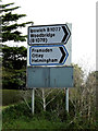 TM1960 : Roadsigns on the B1077 Chapel Hill by Adrian Cable