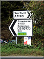TM1960 : Roadsigns on the A1120 New Road by Adrian Cable