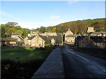 NY9650 : Blanchland from Derwent Bridge by Andrew Curtis