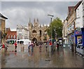 TL1998 : Cathedral Square, Peterborough by Paul Bryan