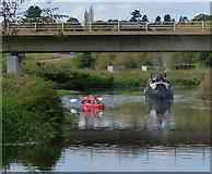 SK5907 : Boating at Watermead Bridge by Mat Fascione