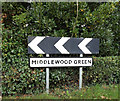 TM0961 : Middlewood Green Village Name sign by Adrian Cable