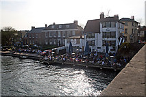 SU7682 : The Angel, The Rectory and The Coach House from Henley Bridge by Jo Turner