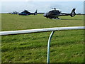 TL6262 : Helicopters at The Rowley Mile Racecourse, Newmarket by Richard Humphrey
