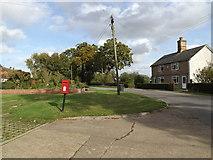 TM0663 : Saxham Street & Tyrell Oak Postbox by Adrian Cable