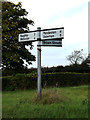 TM0663 : Roadsign on Saxham Street by Adrian Cable