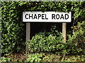 TM0662 : Chapel Road sign by Adrian Cable