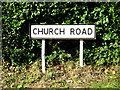 TM0662 : Church Road sign by Adrian Cable