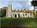 TM0562 : St.Mary's Church, Old Newton by Adrian Cable