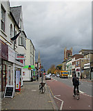 TL4557 : Hills Road with rainclouds by John Sutton
