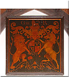 TL4568 : All Saints, Cottenham - Royal Arms by John Salmon
