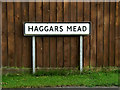 TM0959 : Haggars Mead sign by Adrian Cable