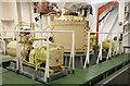 SU3912 : SS Margaret Hill - steering gear by Chris Allen