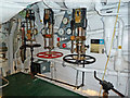 TQ3380 : HMS Belfast - forward engine room throttles by Chris Allen