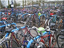 SP5006 : Bikes at Oxford Station by Robin Stott