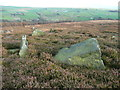 SD9922 : Rocks on Higher House Moor by Humphrey Bolton