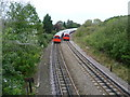 TQ1884 : Two Bakerloo line trains pass near Wembley Central by Marathon