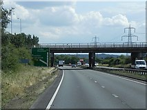 SK8836 : Bridge Carrying the A52 over the A1 at Barrowby by David Dixon