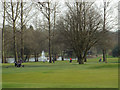 SP0874 : A lake at Fulford Heath Golf Course by Robin Stott